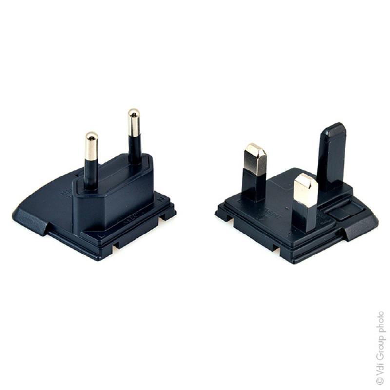 Cargador para 2 baterías CR123 (enchufe Europa + GB) - CEL9011