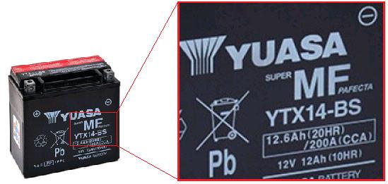 codigo universal baterías de moto